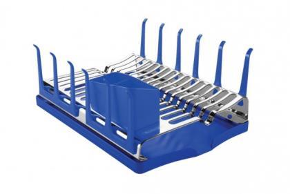Escorredor de Louças Inox com Bandeja Plurale Azul Tramontina 61535040