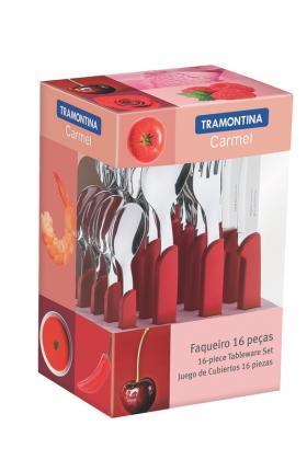 Faqueiro 16 Peças Vermelho Carmel Tramontina 23499008