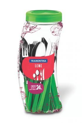 Faqueiro Inox 24 Peças Verde Leme Tramontina 23198231