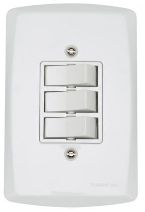 Interruptor 2 sim e 1 Paralelo Lux Tramontina 57140022