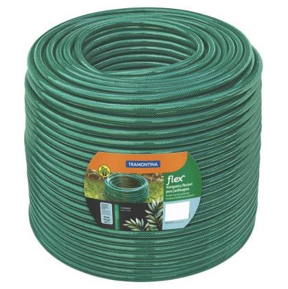 Mangueira Flex 5/8 polegadas Tramontina Verde em PVC 3 Camadas 100 m 79185510