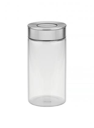 Pote de Vidro Tramontina Purezza com Tampa de Aço Inox 10 cm 1,4 L