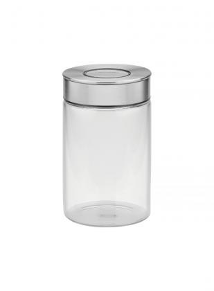Pote de Vidro Tramontina Purezza com Tampa de Aço Inox 10 cm 1 L