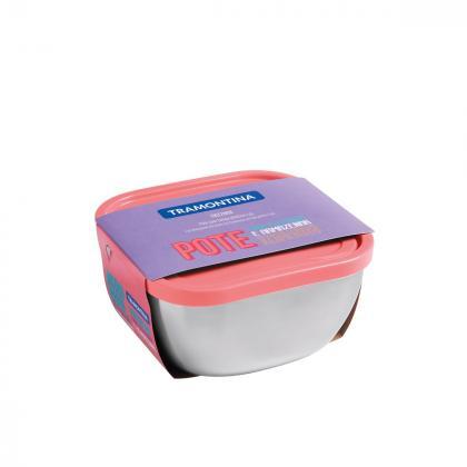 Pote Inox com Tampa Rosa 4,0L Freezinox Tramontina 61221235