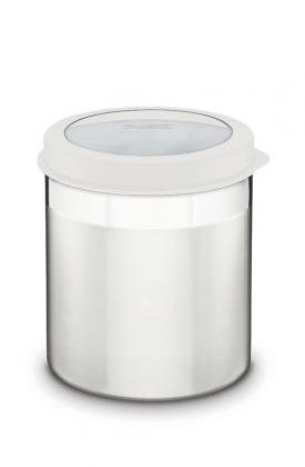 Pote Tramontina Cucina em Aço Inox com Tampa Plástica Branca e Visor 12cm 1,5L