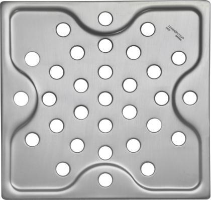 Ralo Quadrado Tramontina em Aço Inox 10 cm