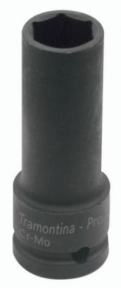 Soquete de Impacto Aço Cromo Sextravado 21mm Tramontina 44893121