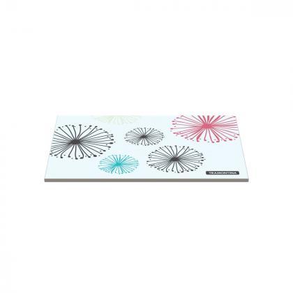 Tábua Tramontina Retangular em Vidro Branco com Estampa Colorida 20x30 cm