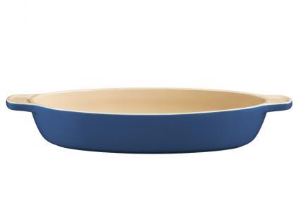 Travessa Lyon Ceramica 35cm Oval Azul Tramontina 20901135